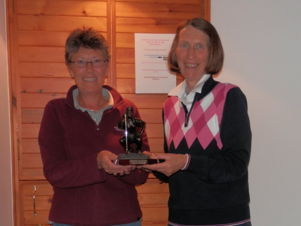 2014 Winner of the Arthritis Care Trophy - Maggi Leonard - presented by Judy O'Connor.jpg