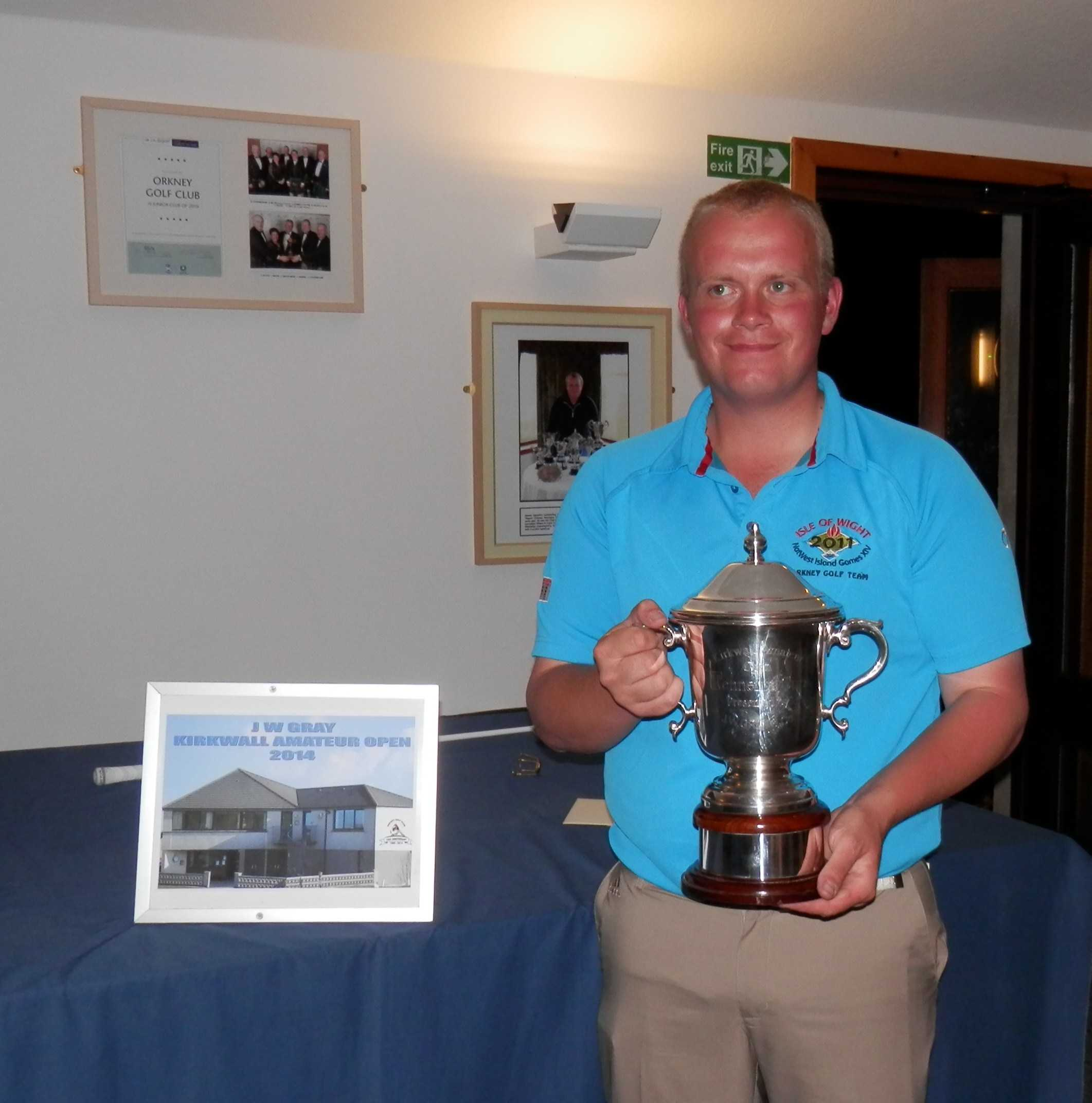 2014 winner of J W Gray Cup [Kirkwall Open gross] Steven Rendall