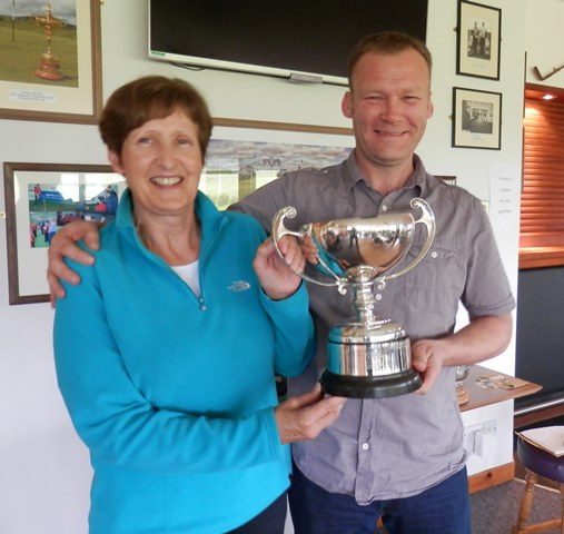 Nicolson Cup winners 2014 -- Margaret Learmonth and James McConnachie