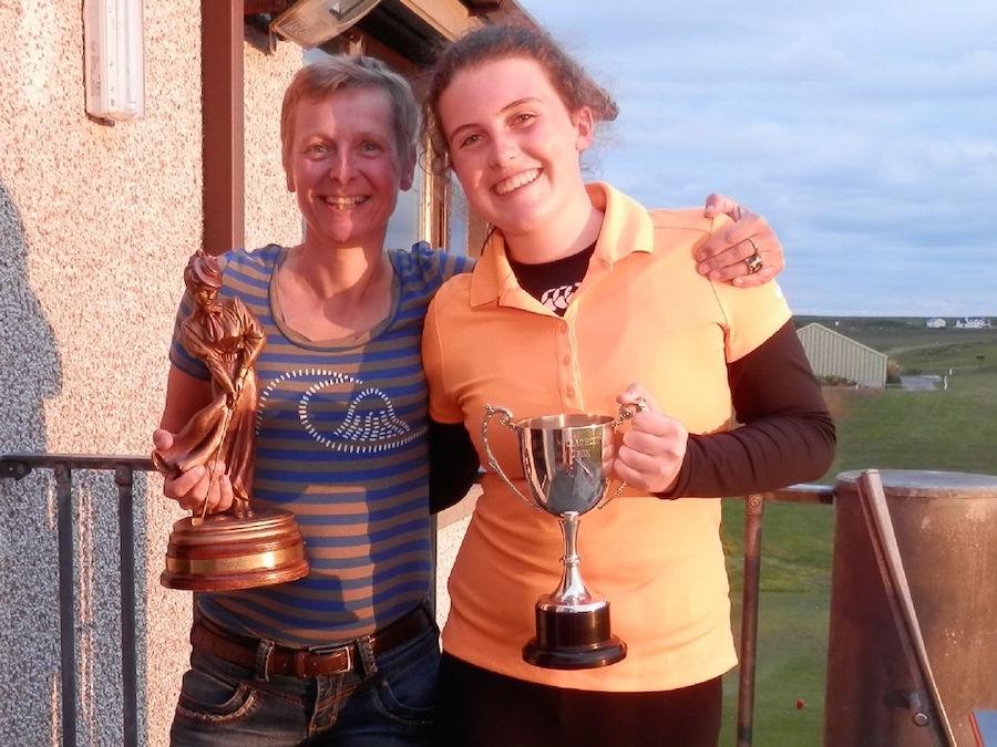 2015 Orcadia Kirkwall Open Winners - Shona Croy (gross) & Adele Flett (nett)